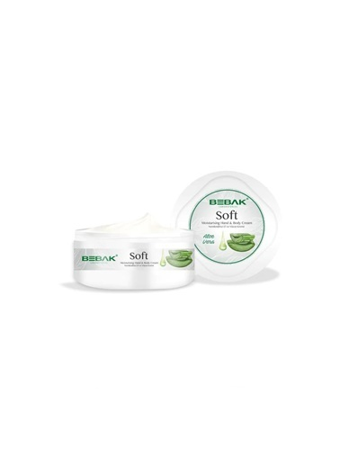 Bebak Bebak Soft Aloe Vera Hand and Body Cream 300ml Renksiz